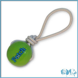 Orbee Tuff Fetch Ball con corda